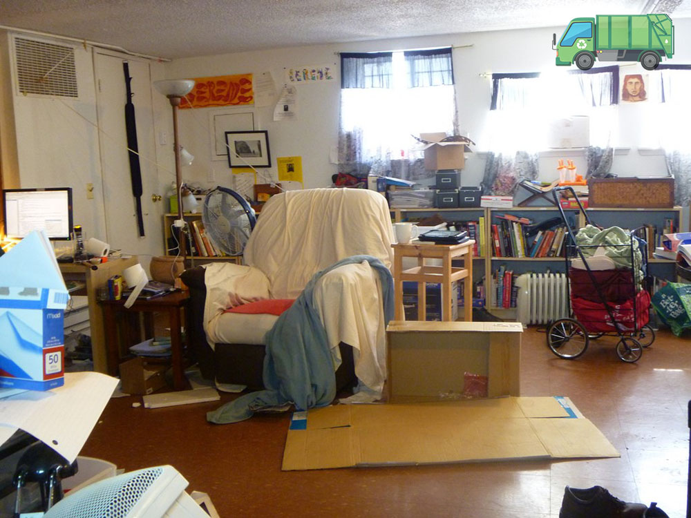 Cluttered room