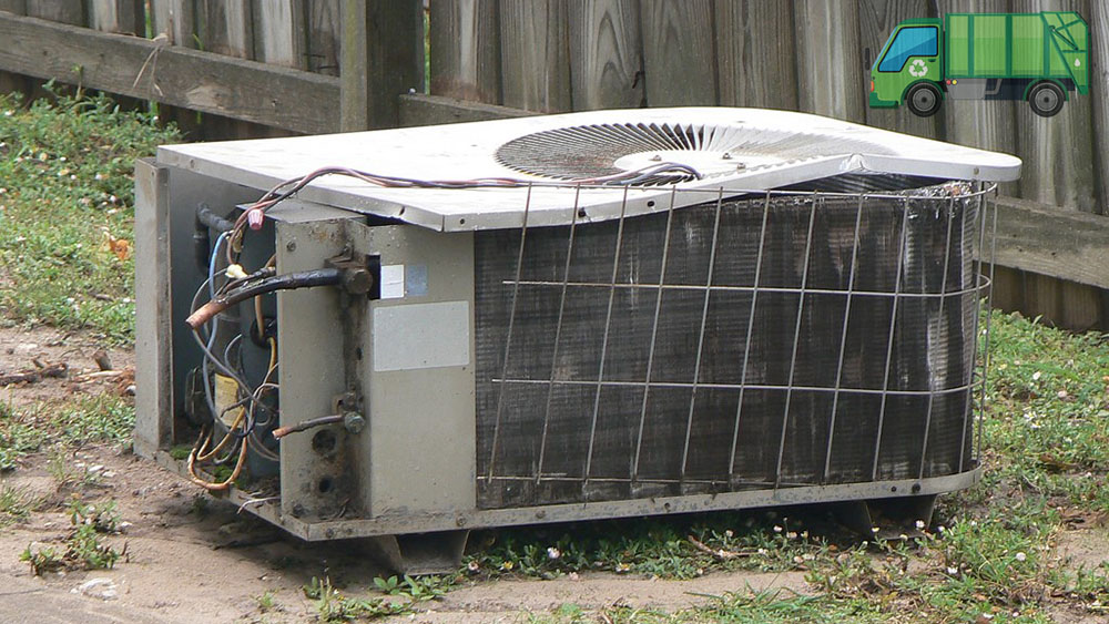 Old air conditioning unit