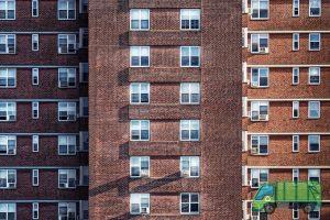 A high-rise block of flats